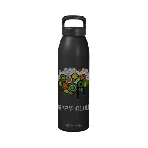 Trippy Cloud Customizable Reusable Water Bottle