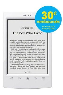 Liseuse eBook Sony PRS-T2 BLANC prix promo Darty 129,00 € TTC,