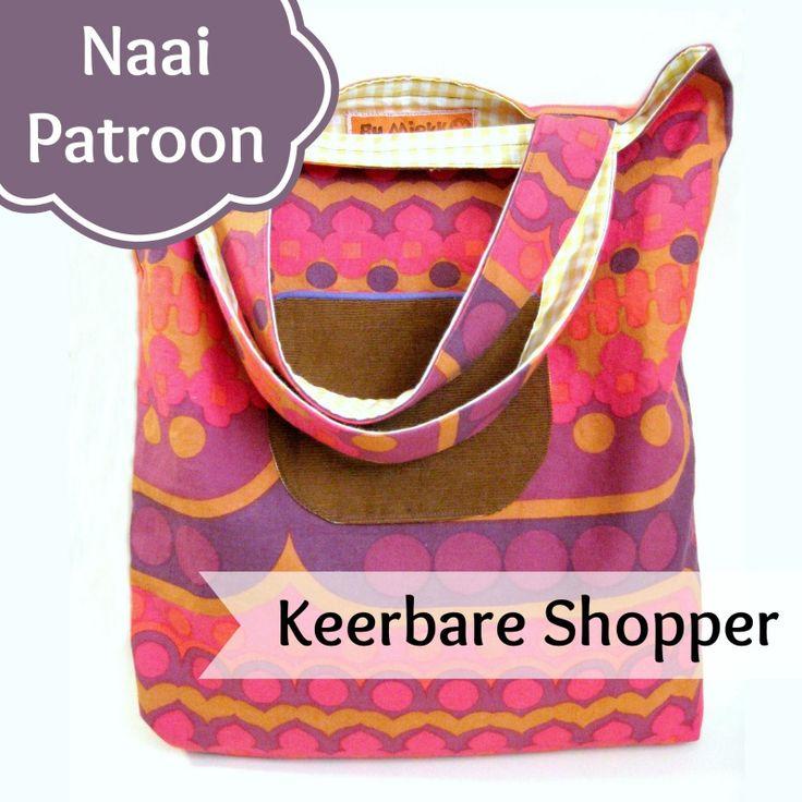 Gratis Naaipatronen - Sew Natural, keerbare tas, shopper, gratis patroon en werkbeschrijving, ook voor beginners