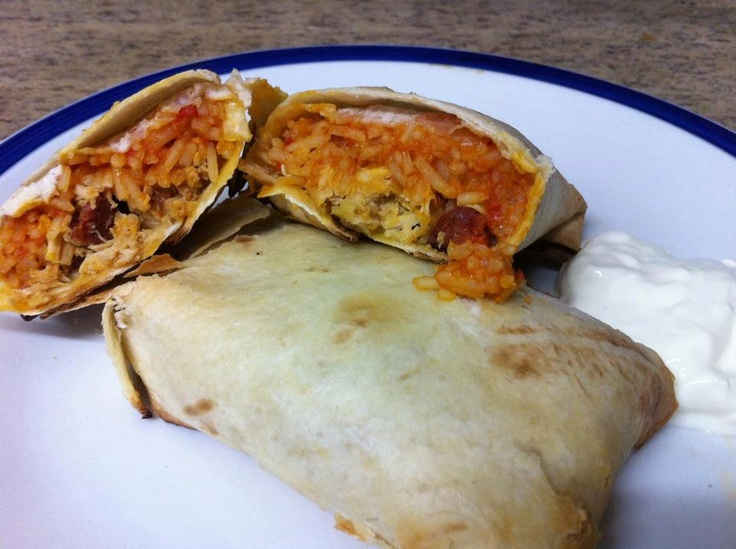 Chicken, chorizo and rice chimichangas!  Get the instructions here: http://www.facebook.com/photo.php?fbid=322047081203529=a.140579589350280.35621.118018038273102=3