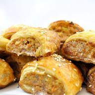 Homemade Beef & Vegetable Sausage Rolls