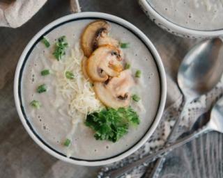 Soupe aux champignons légère