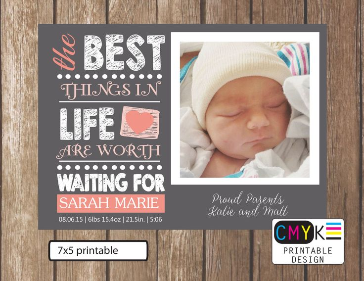 20 best Birth announcements images – Custom Baby Announcements