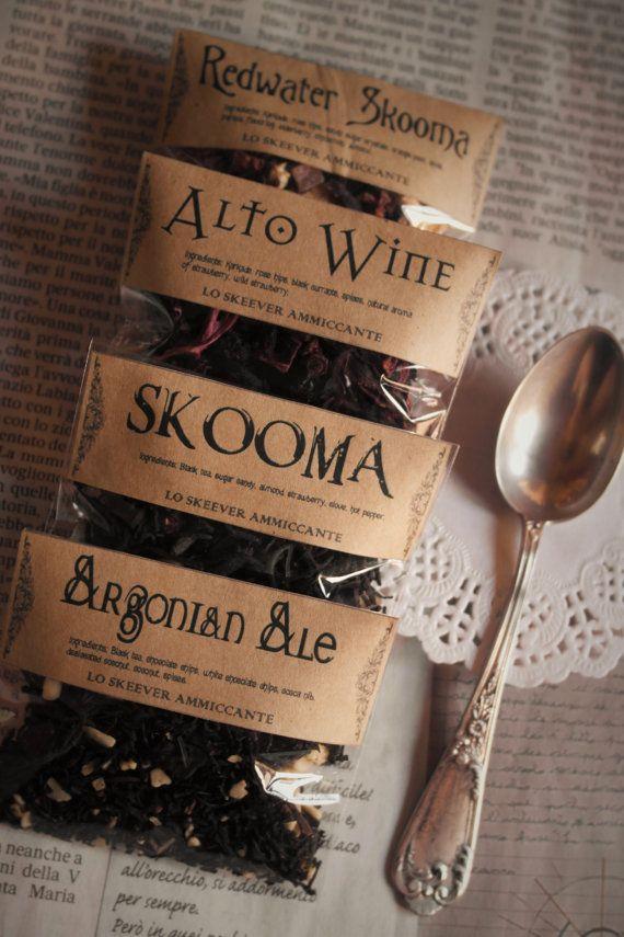 Skyrim Sachet échantillon thé thés infusés par LoSkeeverAmmiccante