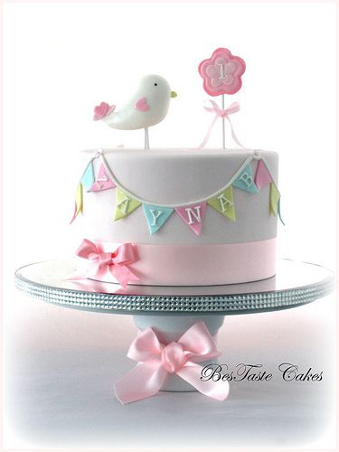 Little bird cake | Girl's 1st birthday cake | BesTaste Cakes | Flickr