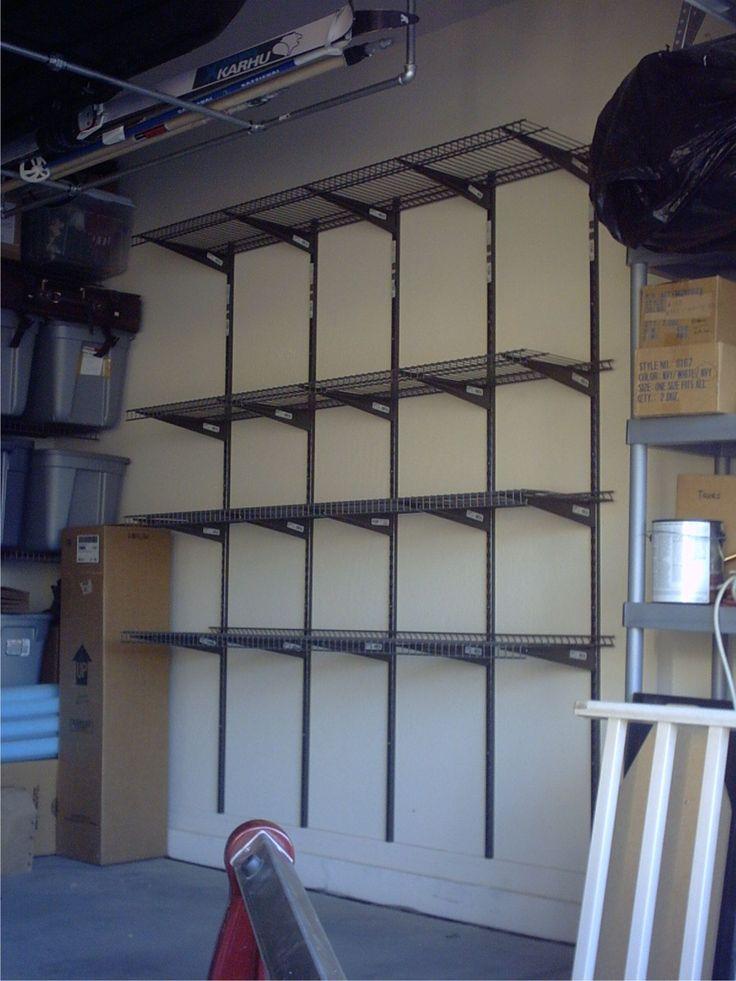 90 best garage and basement shelving images on pinterest organized garage storage garage loftdiy solutioingenieria Choice Image