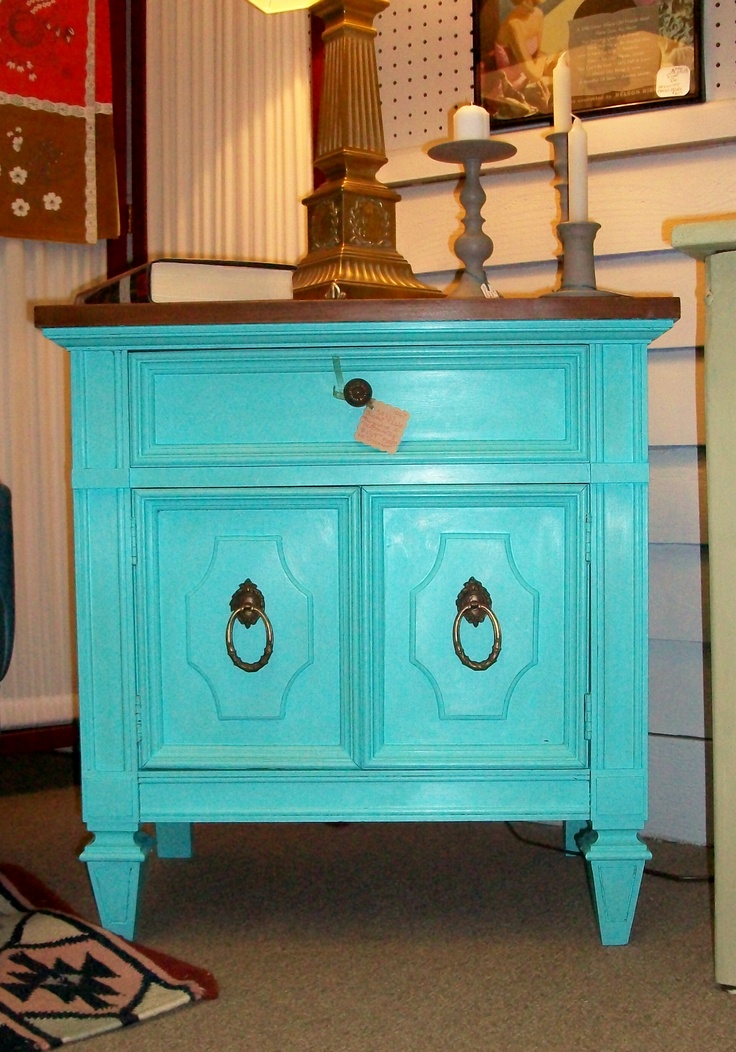 Dixie Furniture Company Mid Century Cabinet Accent Table  painted  Tiffany   Blue and hand waxed. 43 best images about Furniture  Finds and Antiques Local on