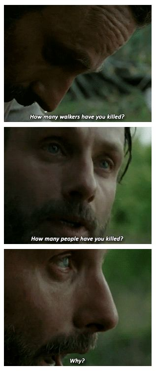 Rick's 3 QuestionsThewalkingdead, Stuff, Walks Dead, The Walking Dead, Nerdy, Three Questions, Ricks Questions Walking Dead, Questions And, Geekery