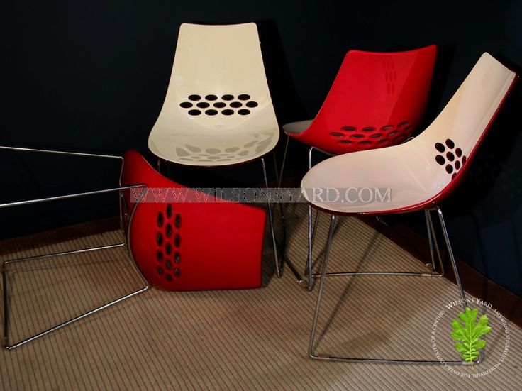 Set of 4 Red Italian Jelly Chairs