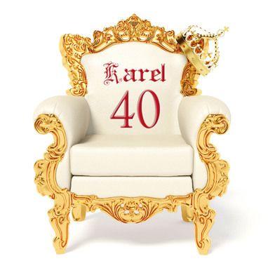 Koninklijke stoel met naam en leeftijd- Greetz