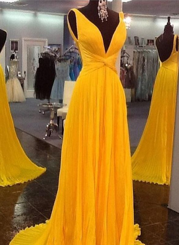 prom dresses, backless prom dresses,party dresses,plus size dresses,yellow