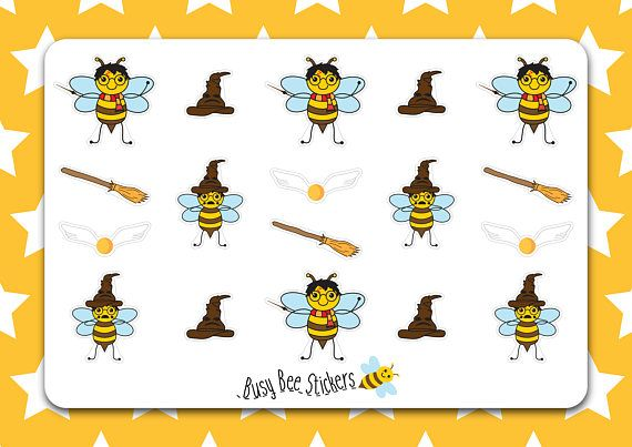 Harry Potter Planner Stickers Bee Stickers Harry Potter
