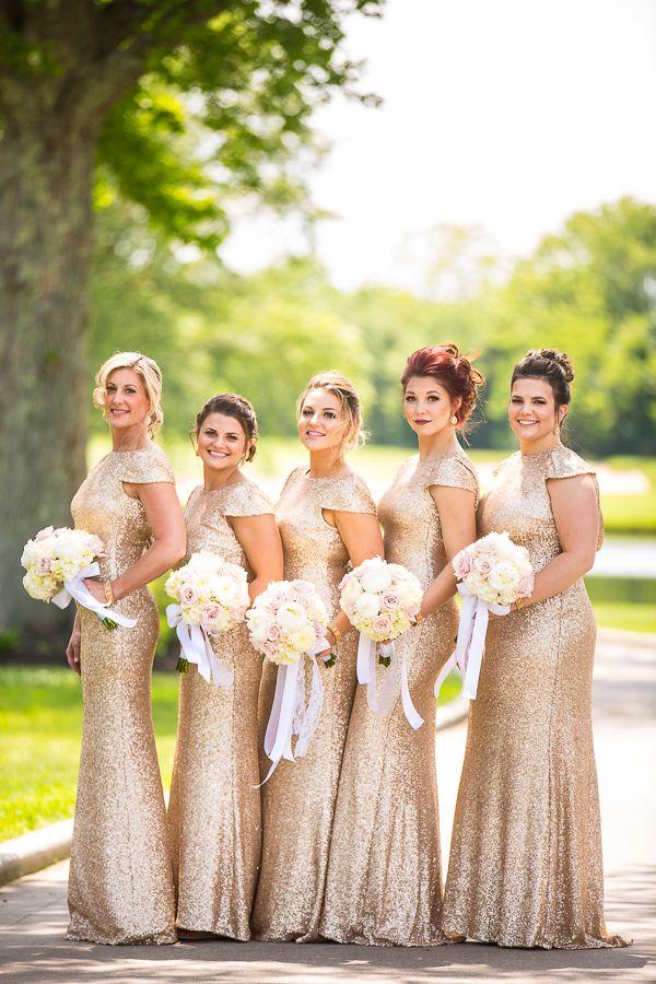 Best 25  Gold bridesmaids ideas on Pinterest | Bling bridesmaid ...