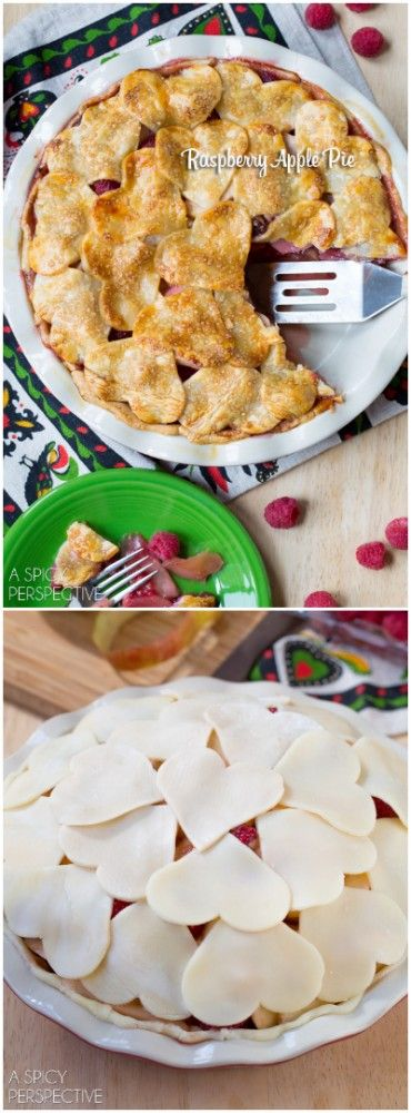 Vibrant Raspberry Apple Pie #fall #applepie #holiday: