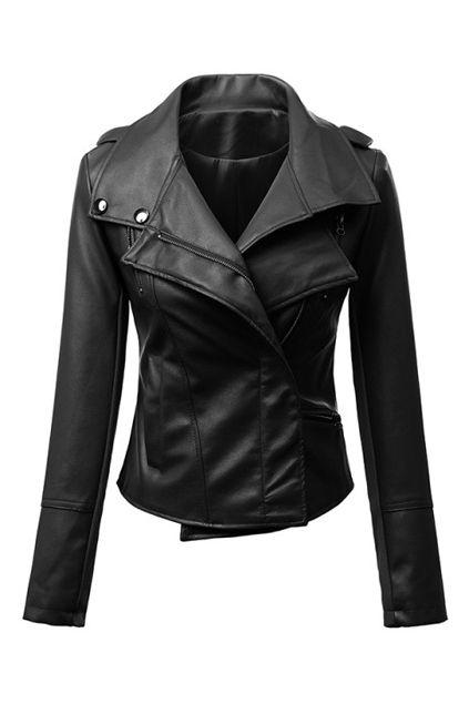 abaday   Sheer Black PU Jacket, The Latest Street Fashion