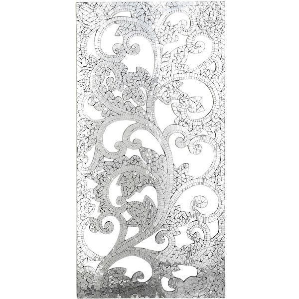 Pier Imports Mosaic Mirrored Wall Panel Liked Polyvore Featuring