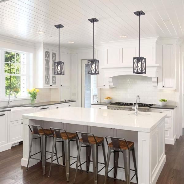 Home Decorators Collection Harwood 1 Light Royal Bronze Mini Pendant With Cage Design Shade Hb3533 In 2020 Kitchen Island Decor Kitchen Renovation Contemporary Kitchen