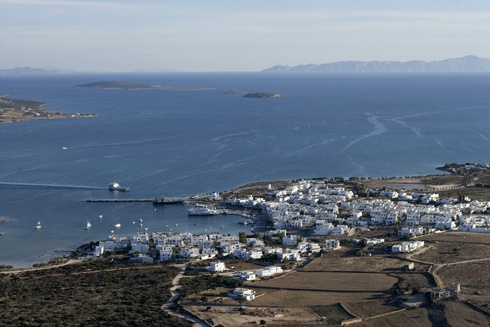 Antiparos (Greek: Αντίπαρος) (ancient name: Oliaros) is a small inhabited island in the southern Aegean, at the heart of the Cyclades, which is 1.9 km from Paros, the port to which it is connected with a local ferry. Saliagos island is the most ancient settlement in the Cyclades, and Despotiko, an uninhabited island in the southwest of Antiparos, is a place of great archaeological importance.
