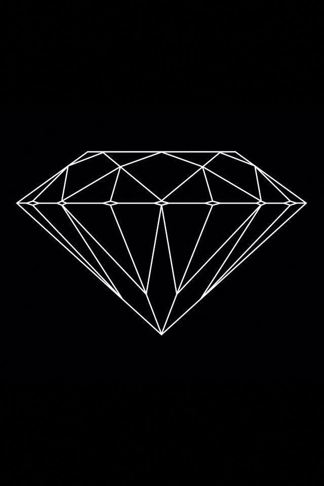 Picsart Popular Photos Populargeometrictattoos Diamond Wallpaper Geometric Diamond Outline