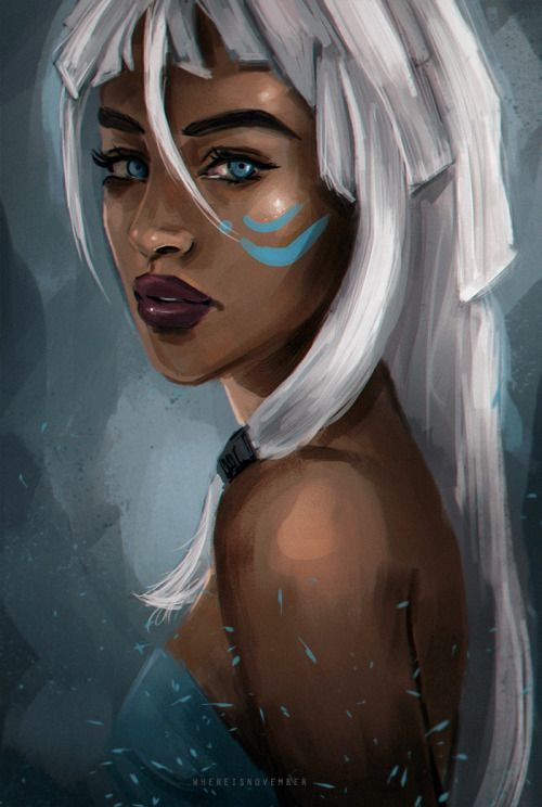 "whereisnovember: "" Kida is one of my favorite Disney characters so I figured I'd paint her for practice """