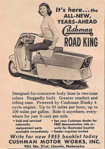 Cushman ROAD KING Would like to take an old/cheap Honda Elite scooter and make a body for it like this...