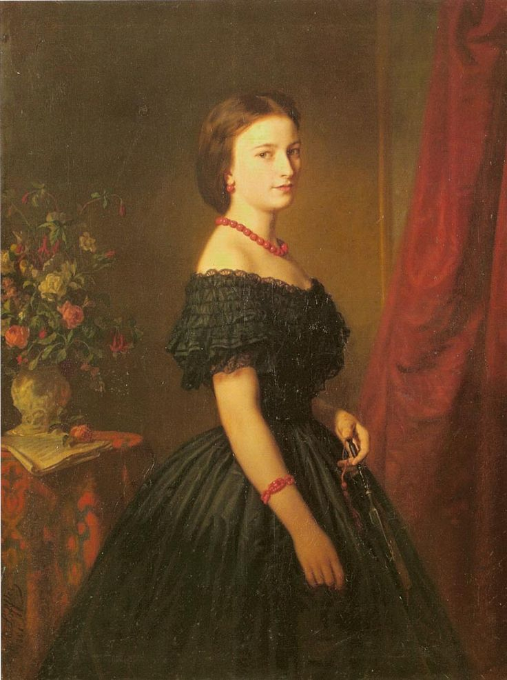 Portrait of Maria Sawiczewska, Leopold Loeffler, 1861.