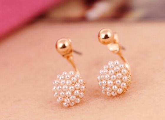 Shopo.in : Buy Double Sided Pearl Earring online at best price in New Delhi, India