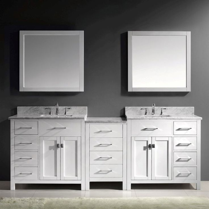 Gallery For Website Virtu USA Caroline Parkway White Undermount Double Sink Bathroom Vanity with Natural Marble Top Common