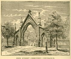 On East 9th Street, enclosed by a 19th century iron fence and Gothic gateway, is the Erie Street Cemetery - the final resting place of some of Cleveland's most notable pioneers and combatants. Located right next door to Progressive Field, even the popular baseball stadium is easily forgotten once you find yourself surrounded by the many weathered gravestones.