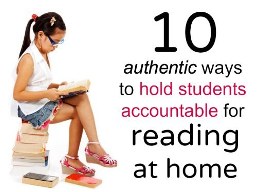 10 authentic ways to hold students accountable for home reading -