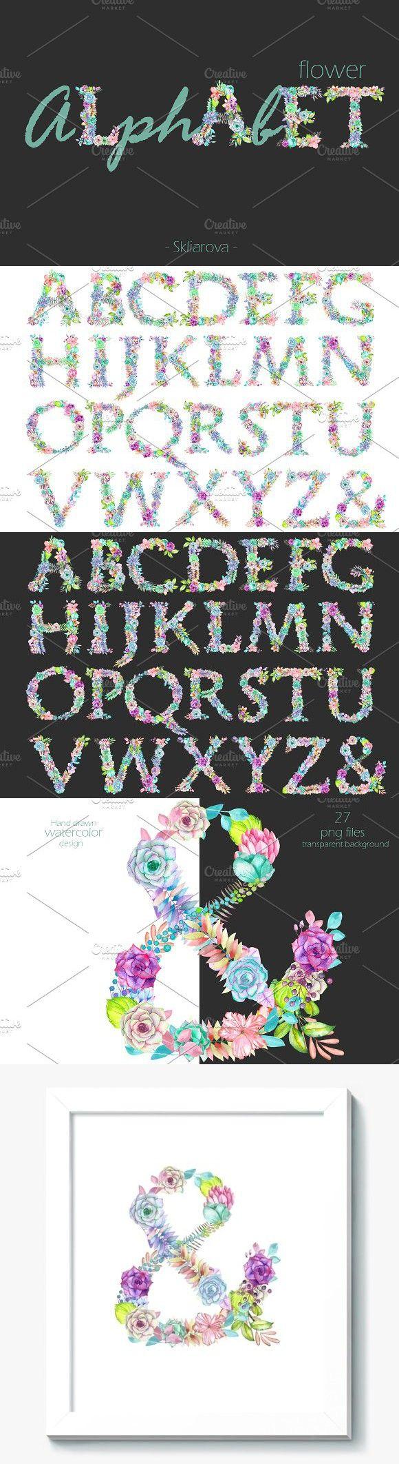 wedding card backgrounds vectors%0A Flower alphabet  Objects          Flower AlphabetFlower LettersWedding FontsWedding  CardsWedding Card TemplatesWatercolor