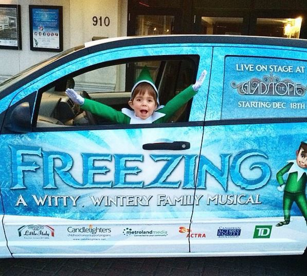 Have you spotted Selfie driving around Ottawa in the Freezing mobile yet? Comment below or tag us in your photos to let us know where you've seen him!! Freezing - A Witty, Wintery Family Musical will be running at the Gladstone Theatre until January 4th! You don't want to miss this show!! www.itsfreezinginottawa.com #ottawa #itsfreezinginottawa #gladstonetheatre #myottawa #ottawa #local613 #ottawaarts #everydayottawa #selfieontheshelfie #grandpremier #familymusical #familyfun