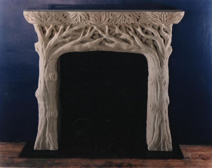 Tree Fireplace Carved From Bath Stone On