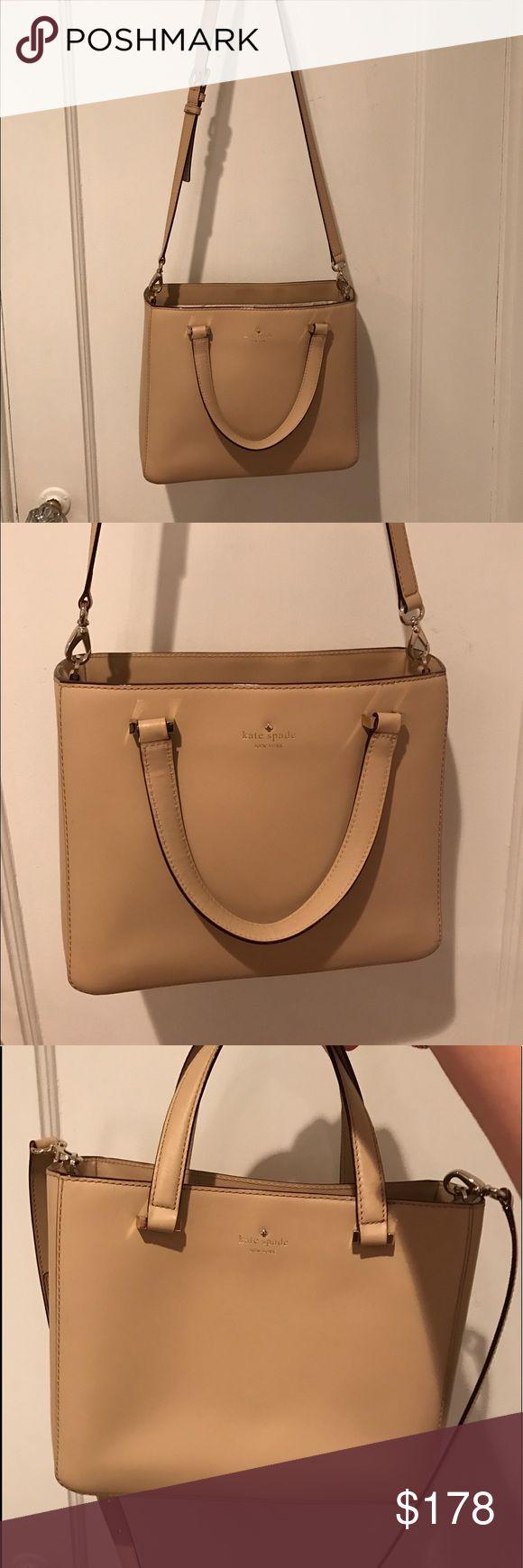 Kate spade medium nude tote bag Lightly worn kate spade Bags Crossbody Bags