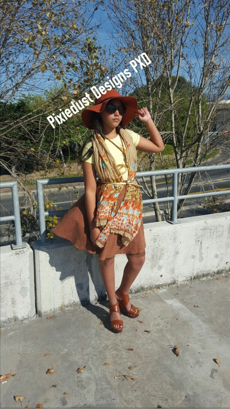 Brown tulle skirt with light yellow embelished tee PIXIEDUST DESIGNS PXD 2016