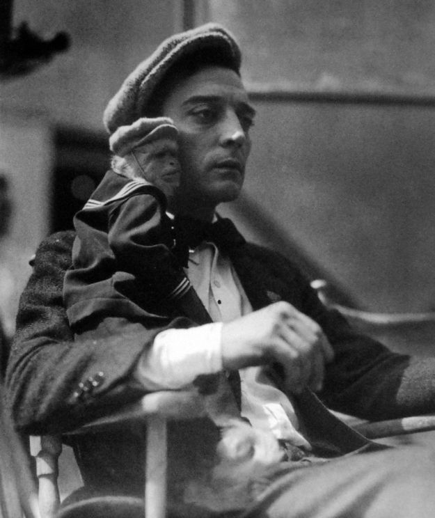 Buster Keaton (and a monkey!!!) | Classic Movie Stars Spending Time With Their Pets