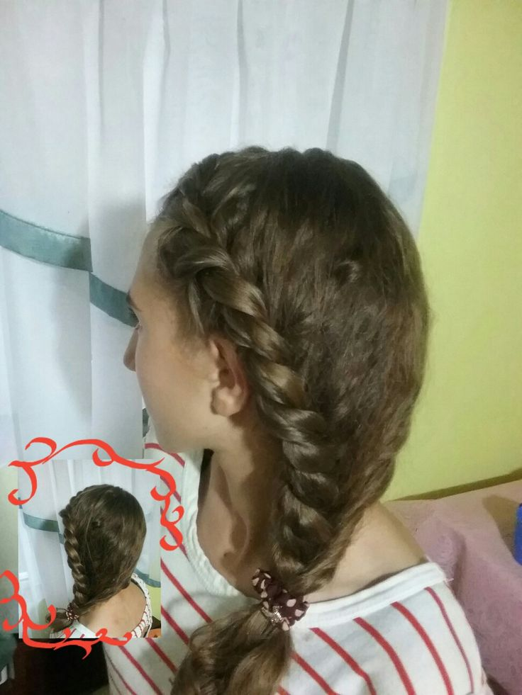 A fancy and elegant hairstyle for school