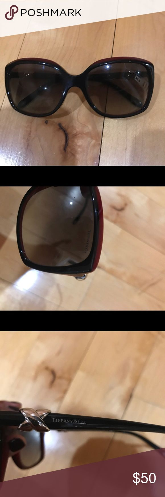 Tiffany sunglasses Worn, a few scratches on the lens. Doesn't come with case. Tiffany & Co. Accessories Sunglasses