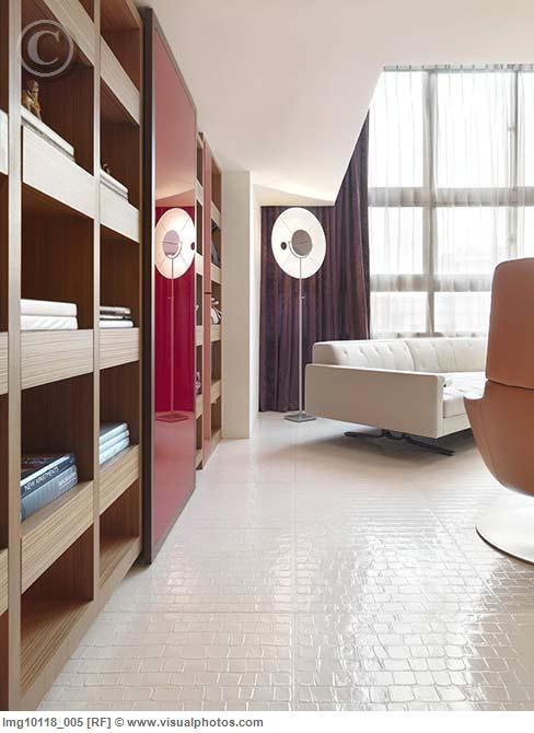 White linoleum floor -- basement?