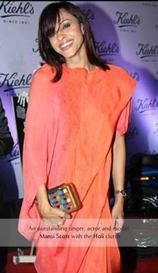 Mansi Scott- Indian TV personality and  singer carries the Rachana Reddy 'Holi' bag   #mansiscott #rachanareddy #wood #woodenclutch #clutch #bag #fashion #accessory #madeinindia  #Holi #india #bollywood #celeb   Shop here: www.rachanareddy.com