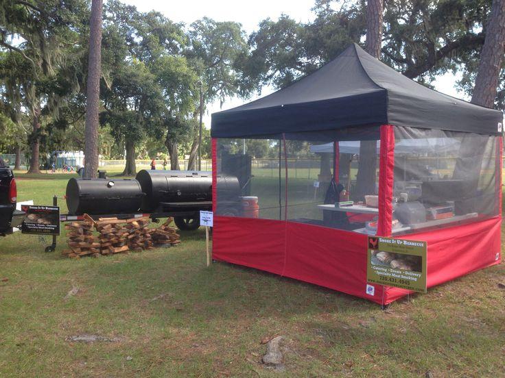 Competition Setup at Fernandina Beach Butts & Brisket Comp 2013