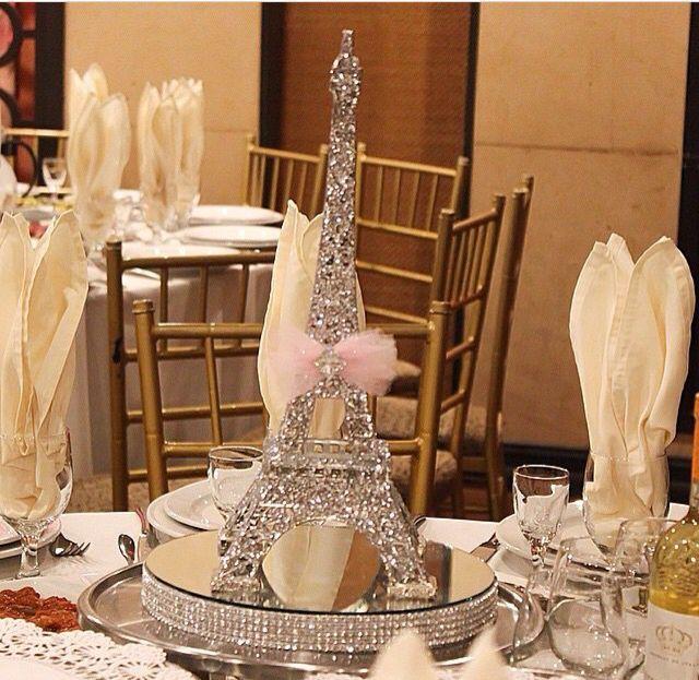Best paris theme centerpieces ideas on pinterest