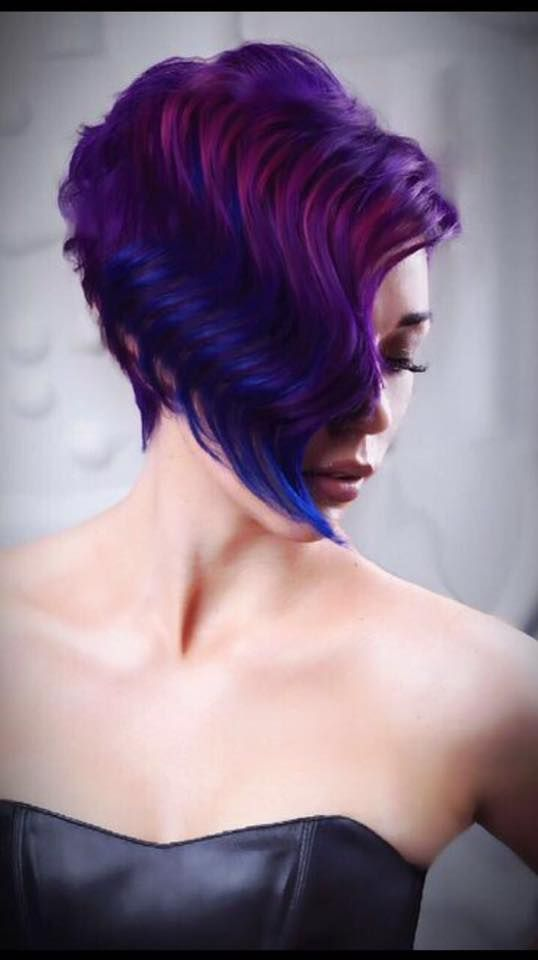 Violet Waves - Awesome Cut and Colour by Pasquale Creative Stylist TK. To also feel amazing make an appointment Phone 011 391 3105/6 www.pasquale.co.za #intercoiffure #redkenphbonder