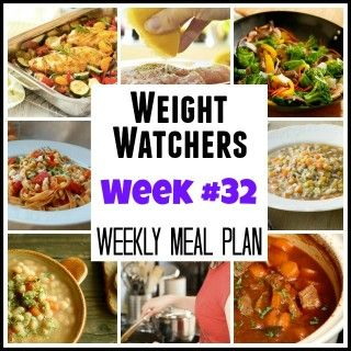 Weight Watchers Weekly Meal Plan 32