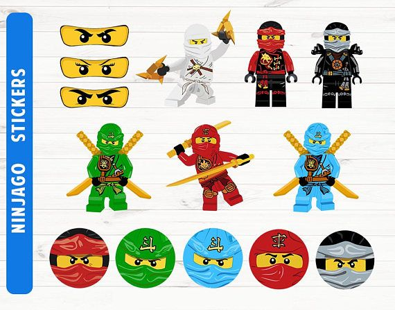 Ninjago+stickers+Ninjago+party+Ninjago+printables+Digital