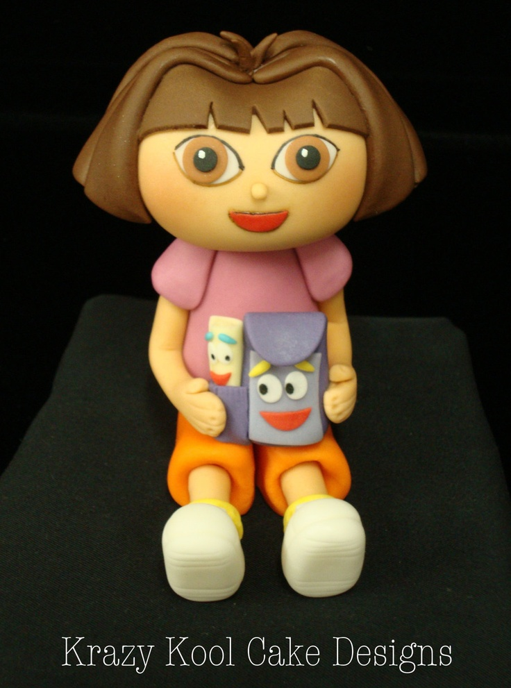 Dora The Explorer Cake Topper by KrazyKoolCakeDesigns on Etsy