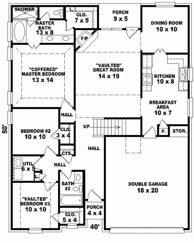 50 X 50 House Plans Lovely 52 Beautiful 40 50 Open Floor Plans Stock Daftar Harga House Plans House Floor Plans Ranch House Plans