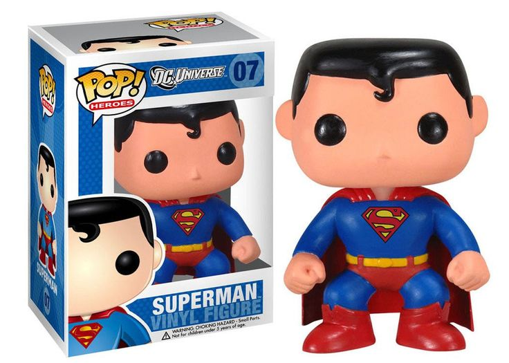 Inspired by designer toys and stylized character collectibles the world over, Funko is back with Pop! Heroes Vinyl Figure! This adorable collectible figure of Superman comes packaged with a smile spec