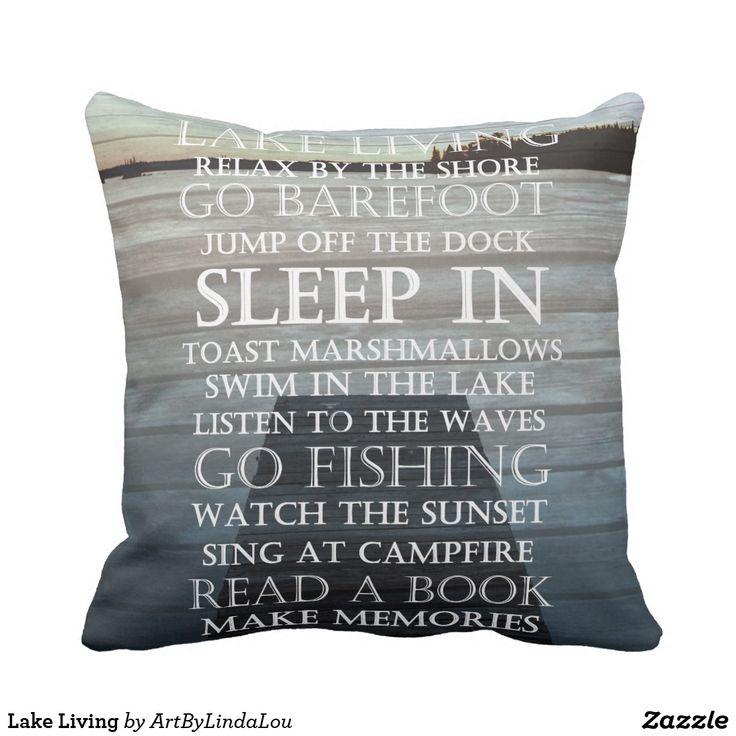 Lake Living Throw Pillow
