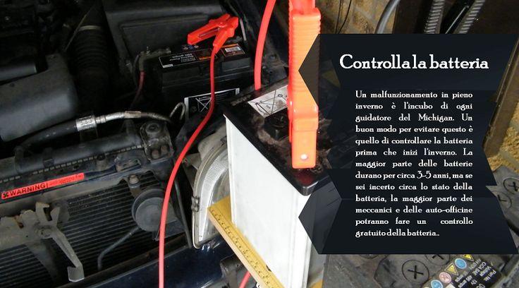 Batteria Il tempo freddo è duro per le batterie. Fai controllare la batteria ed il sistema di ricarica  per ottenere prestazioni ottimali, cosa particolarmente importante ora quando ci sono tanti sistemi di sicurezza computerizzati che usano la carica della batteria. #pneumaticiinvernali